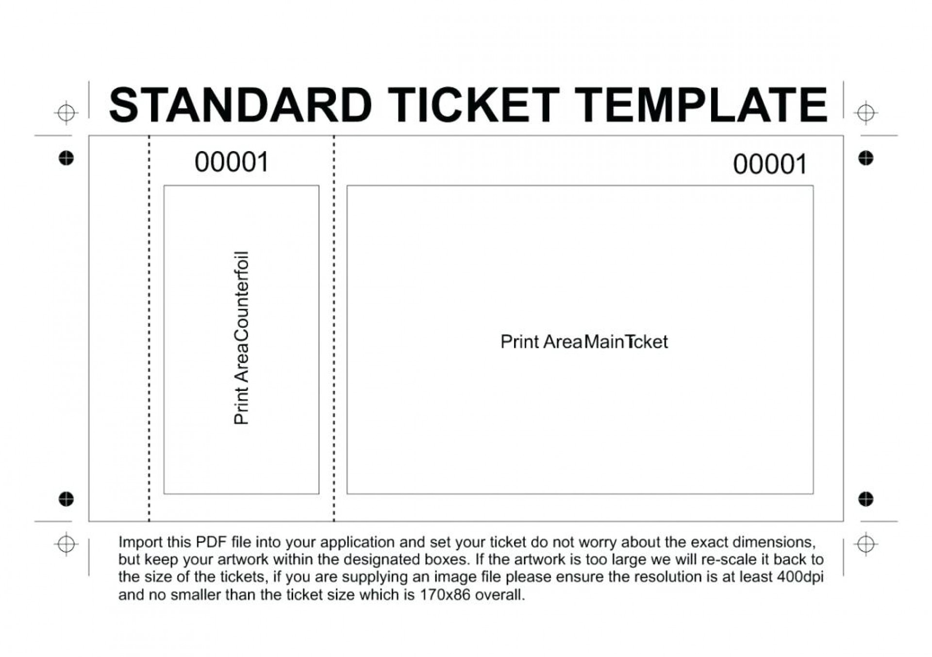 Template For Raffle Tickets Word