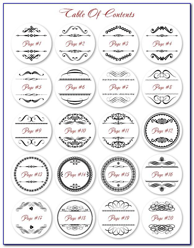 Template For Small Circle Labels