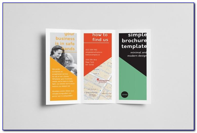 Template For Tri Fold Brochure Free