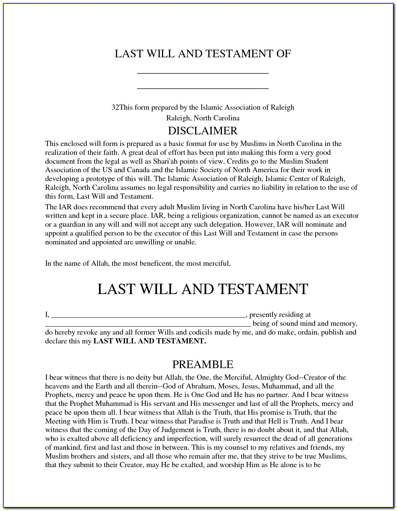 Template For Wills Uk