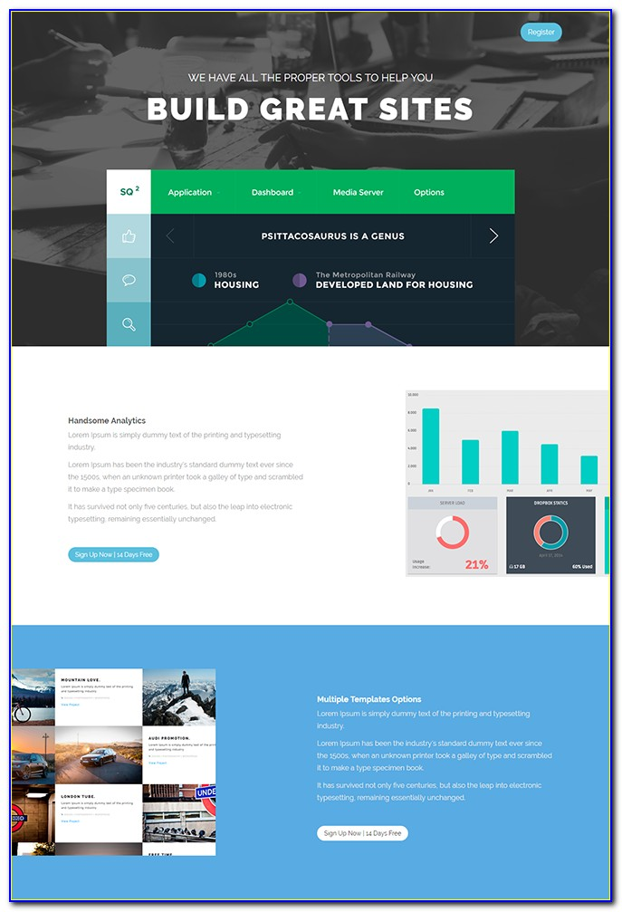 Template Landing Page WordPress Free