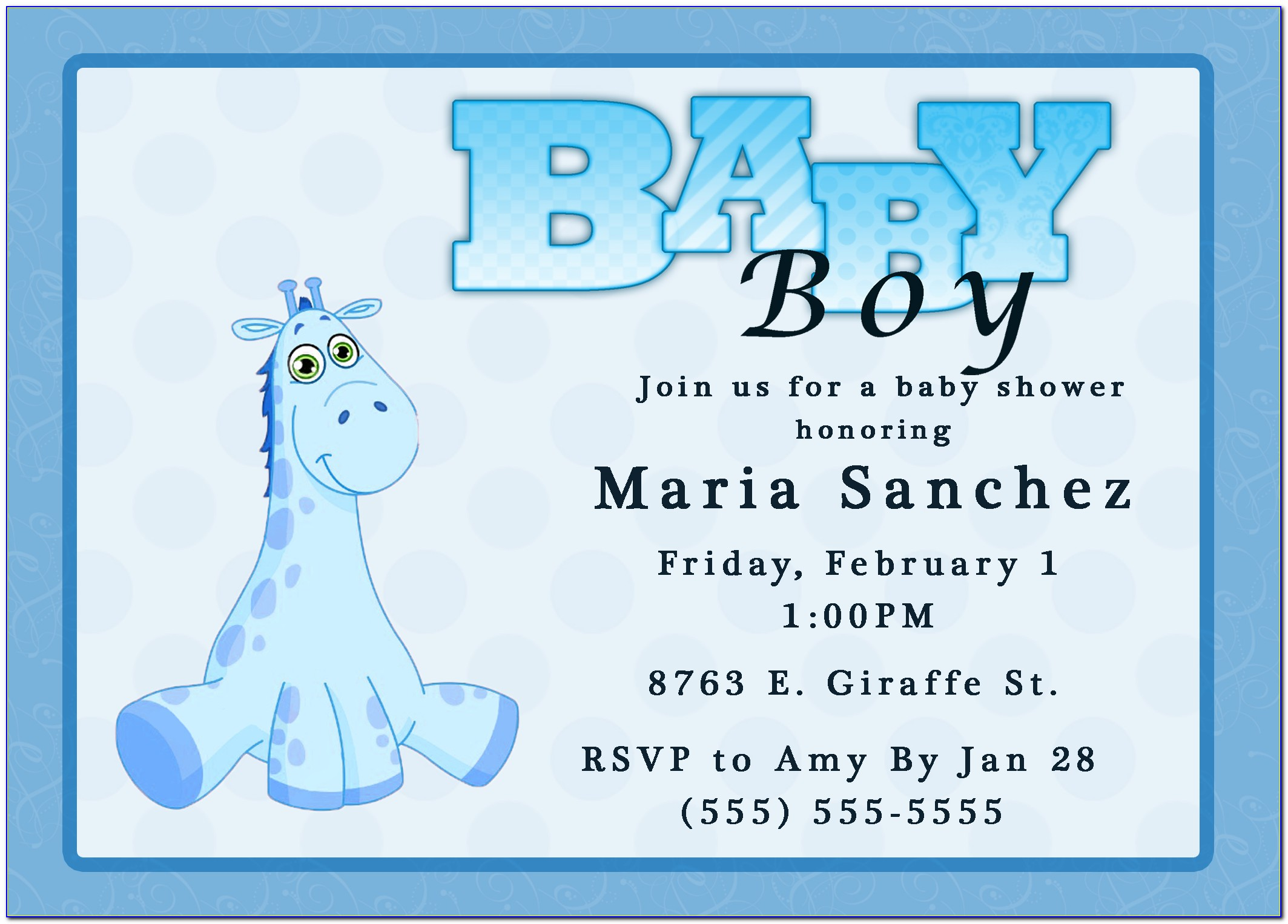 Templates Baby Shower Invitations