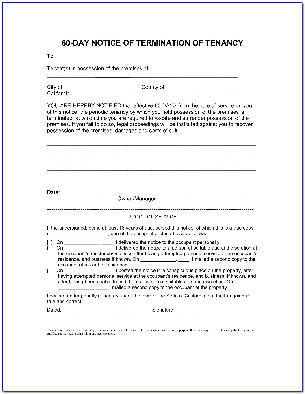 Eviction Notice Letter Free Download Ledger Form Proposal Template With 60 Day Notice To Vacate Template 2018