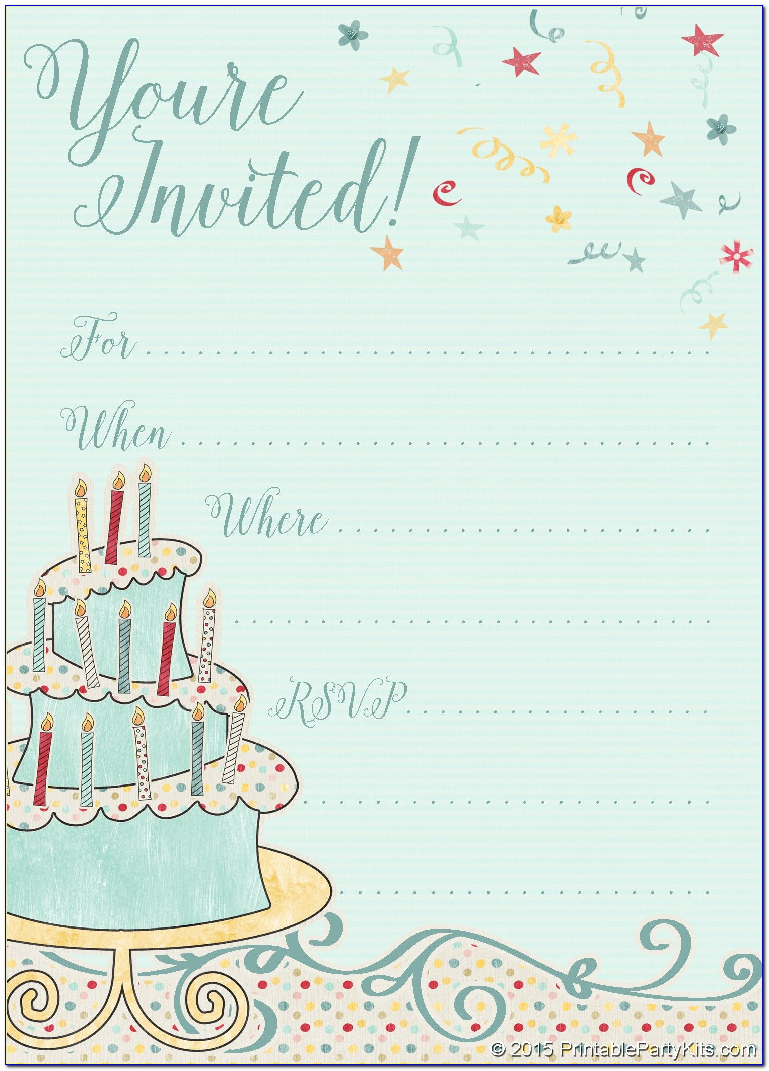 Templates For Invites To Birthday Parties