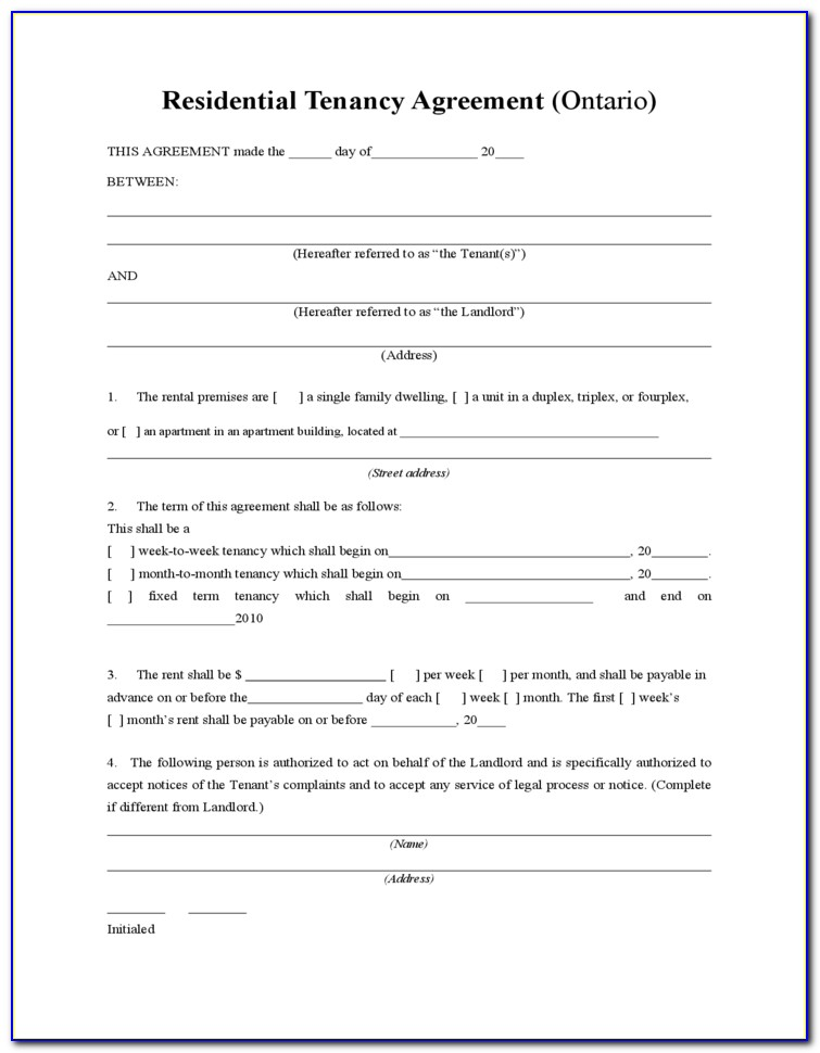 Tenancy Agreement Template Free Download