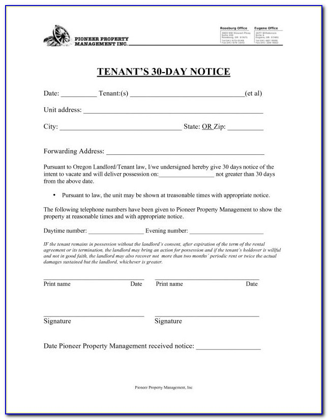 Tenant Eviction Forms Uk