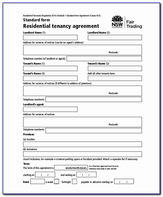 Tenants In Common Agreement Sample Lovely Rental Agreement Template Nsw Rent Agreement Form 9 Free Word Pdf
