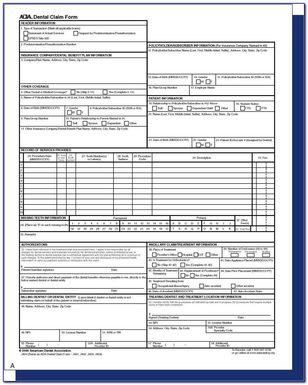 Ada Dental Claim Form Luxury 14 Dental Insurance