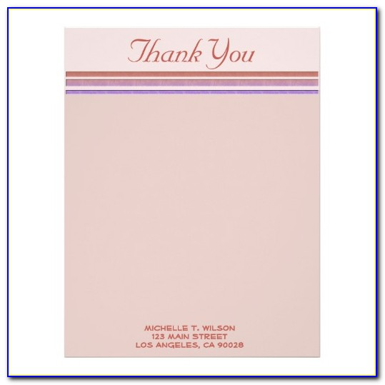 Thank You Stationery Templates Free
