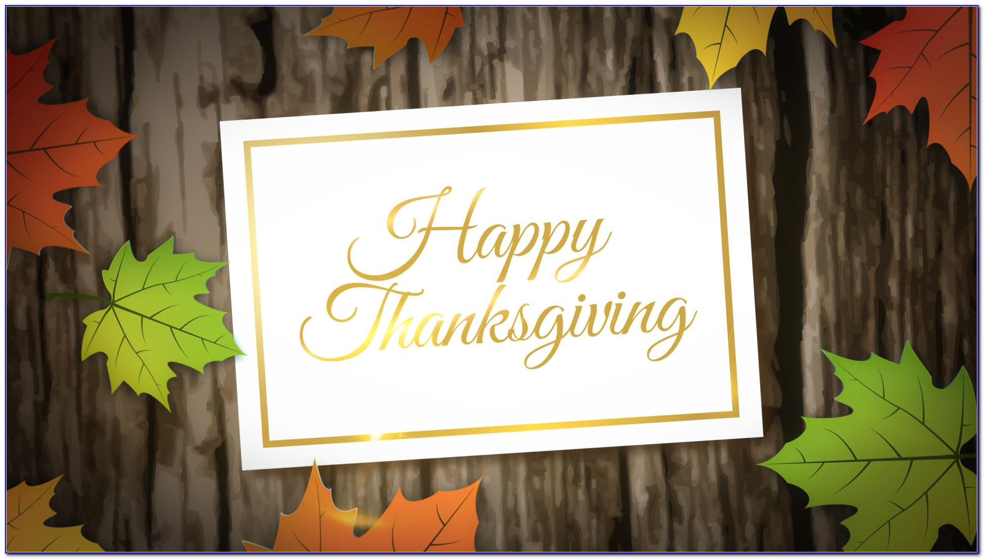 Thanksgiving After Effects Template