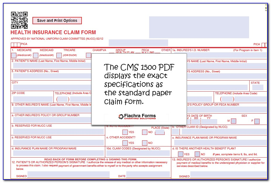 The Health Insurance Claim Form Cms 1500 Is Known As The