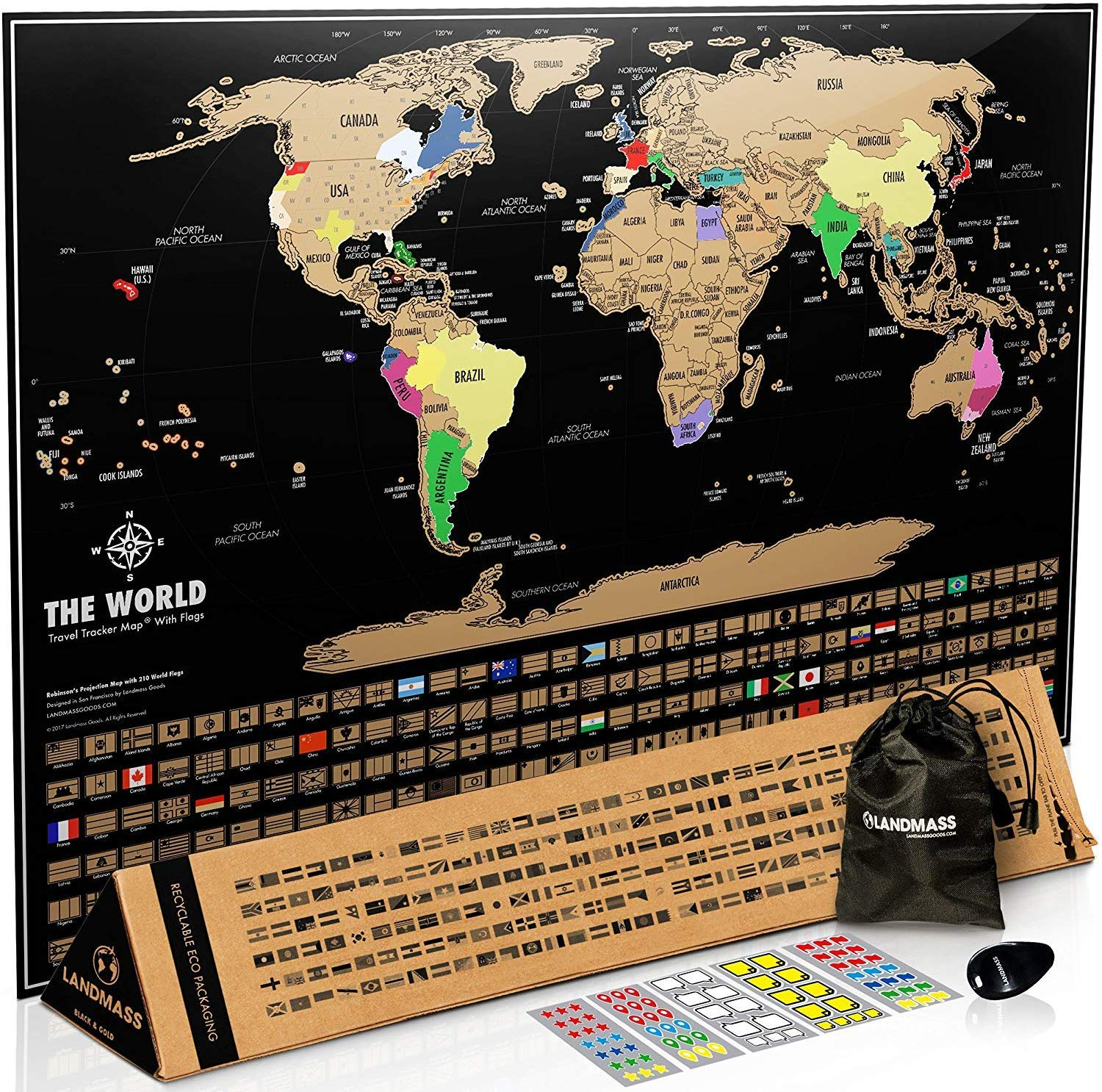 The Scratch Map Of The World Black By Travel Map