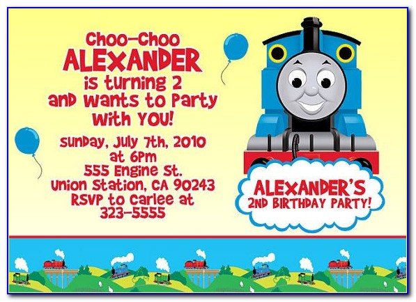 Thomas The Tank Engine Invitation Template