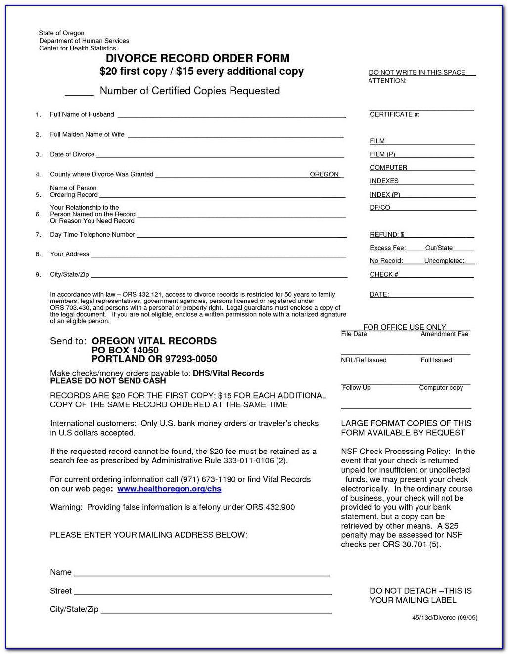 Thurston County Divorce Forms