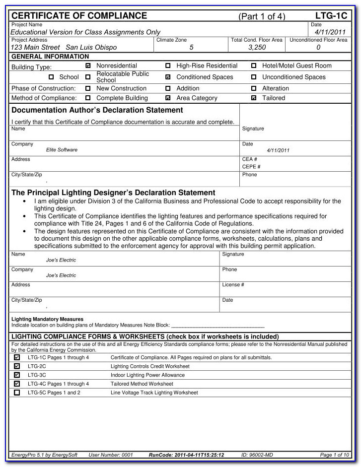 Title 24 Compliance Forms Cad