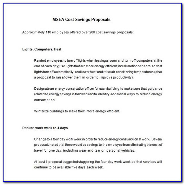 Tm Cost Proposal Template