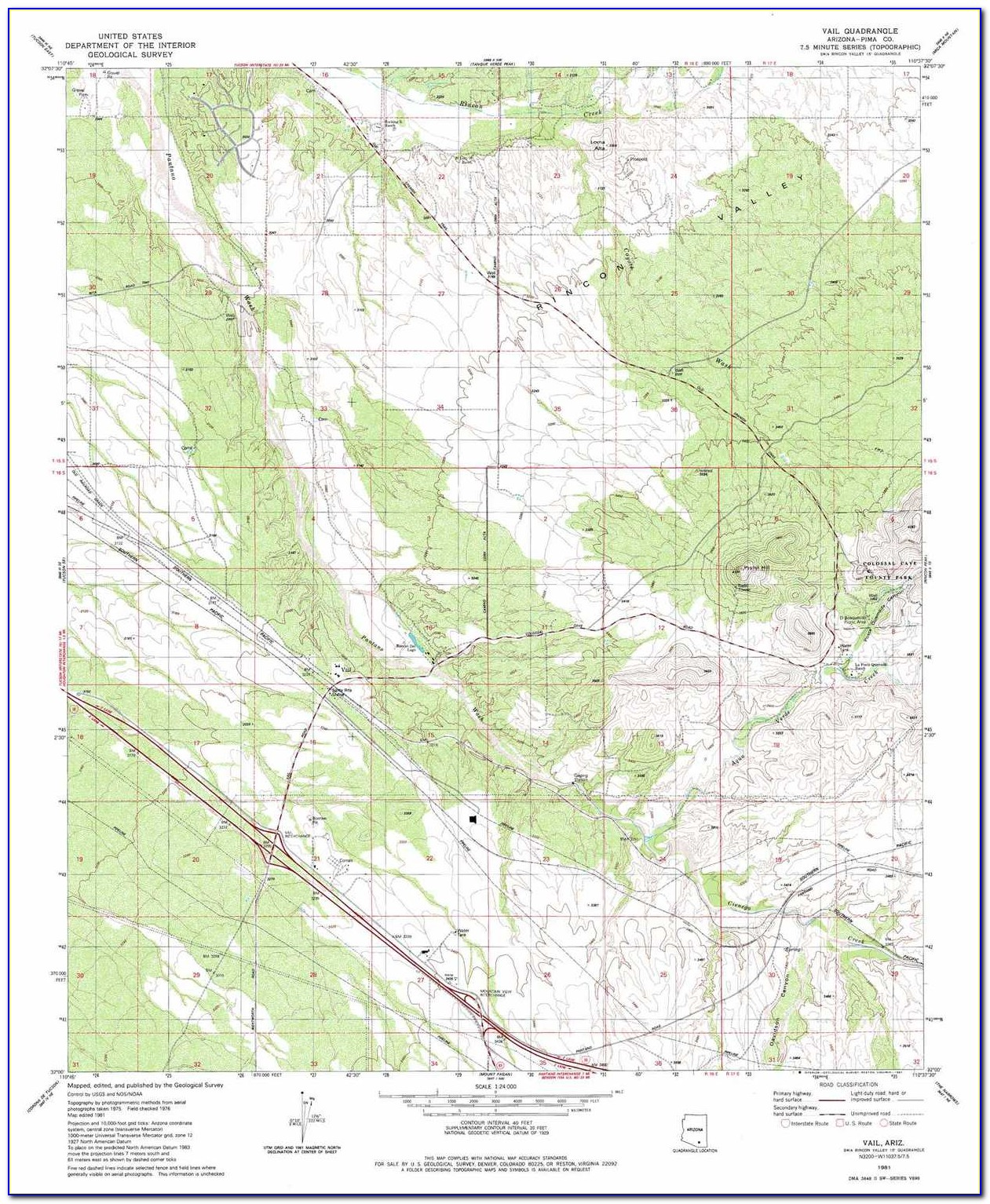 Topo Map Arizona