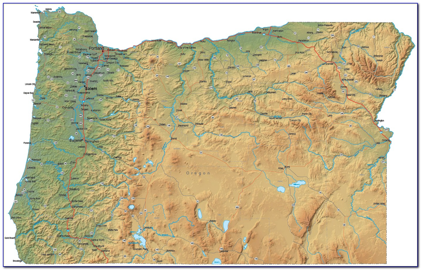 Topo Map Of Oregon