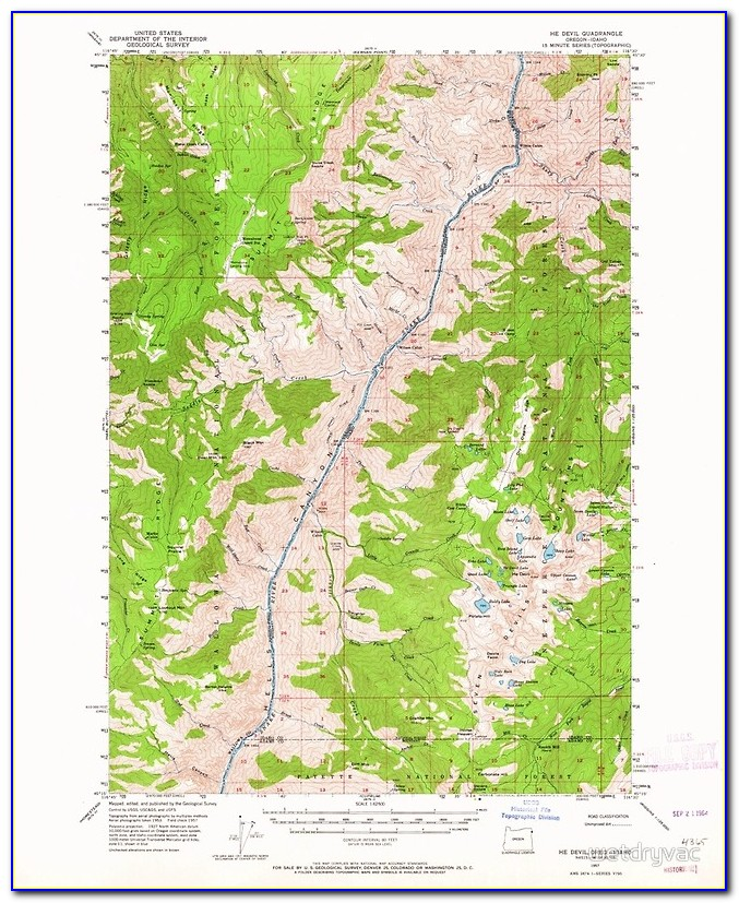 Topographic Map Of Central Oregon