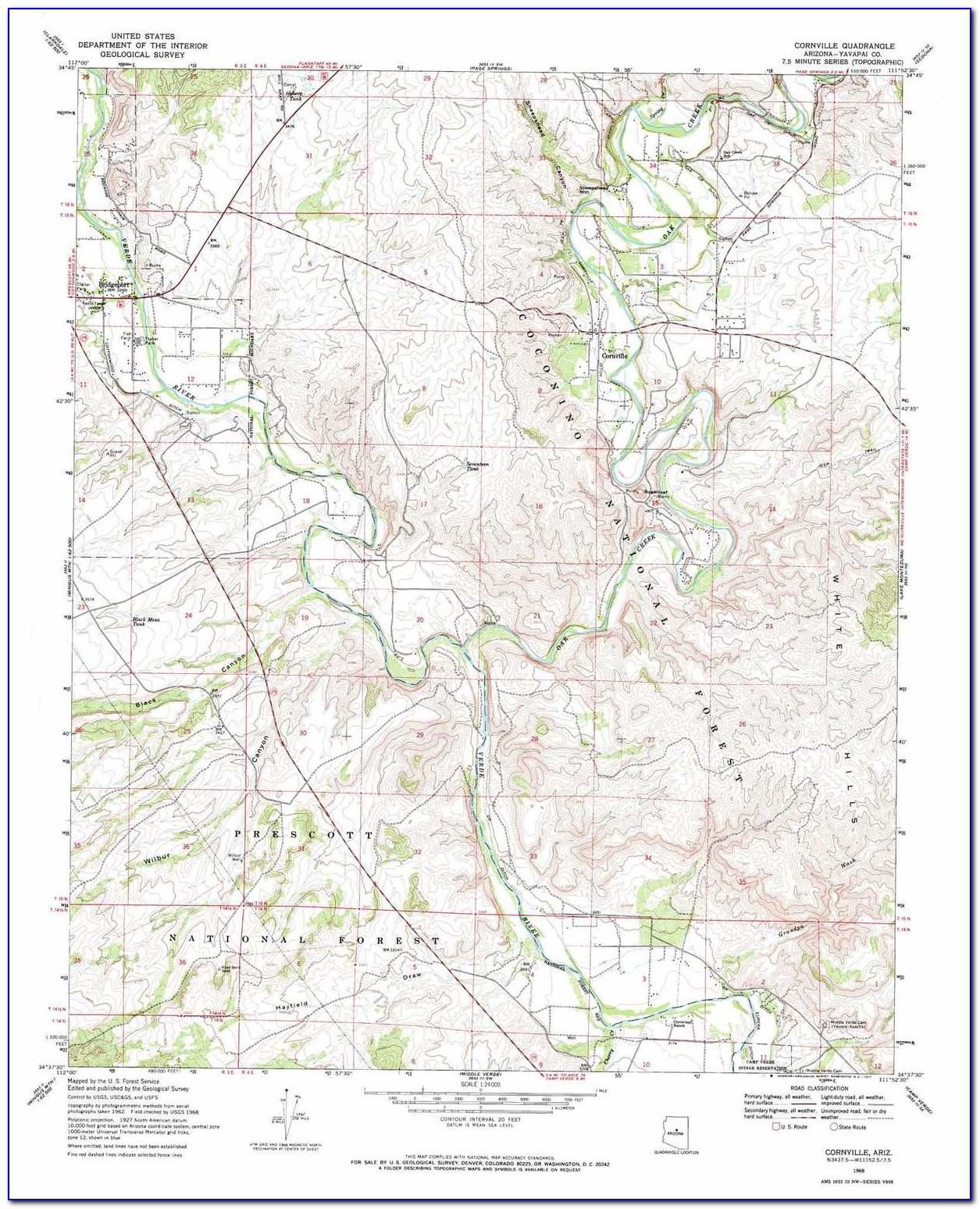 Topographic Map Of Prescott Arizona