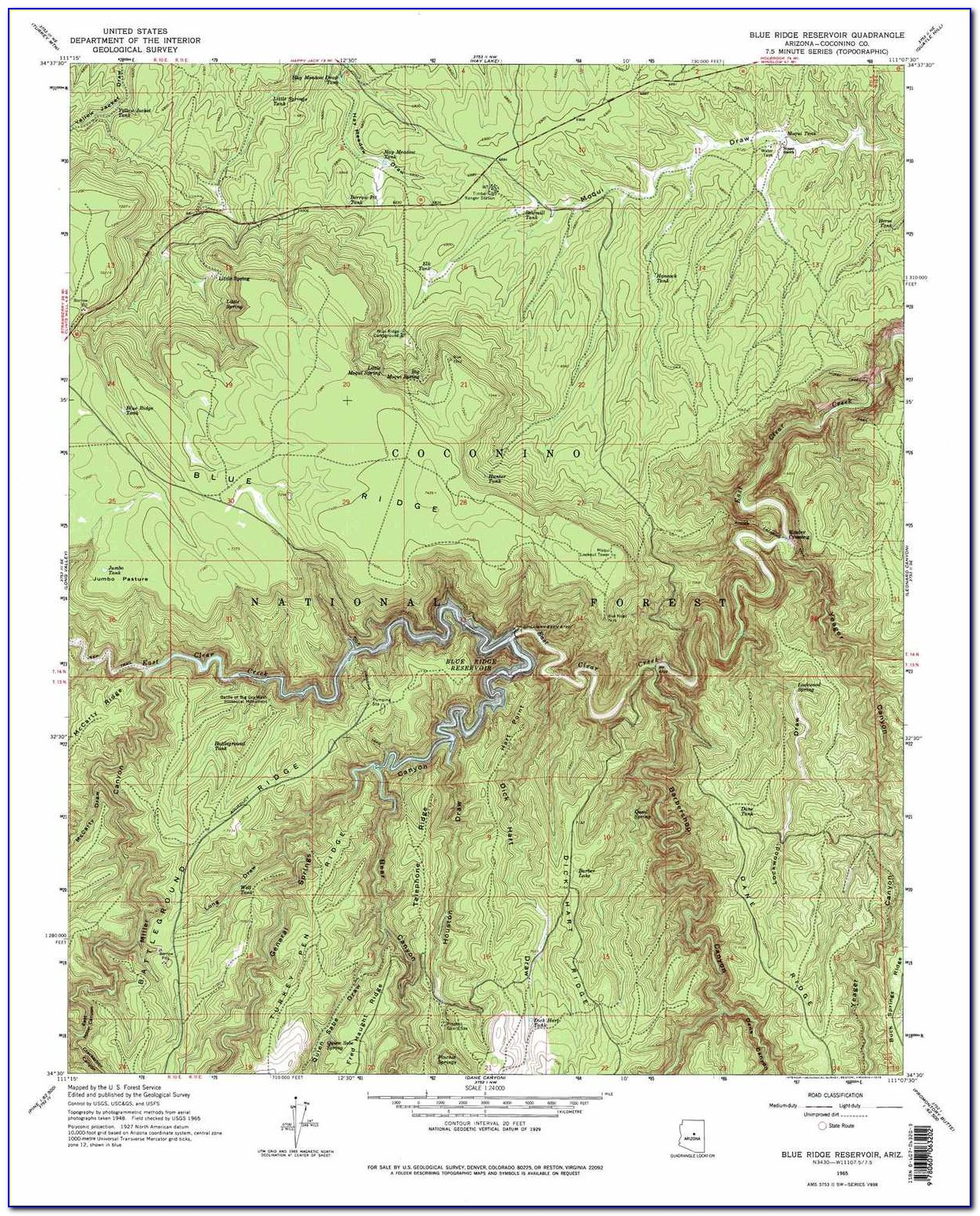 Topographic Maps Arizona