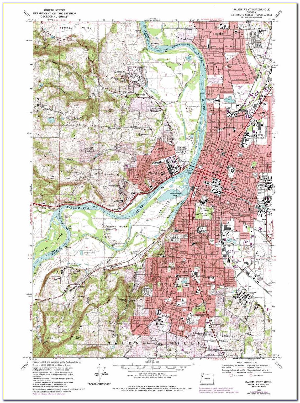 Topographical Map Of Portland Oregon