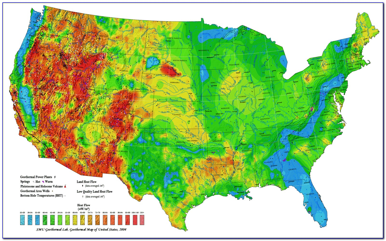 Topographical Map Of Us