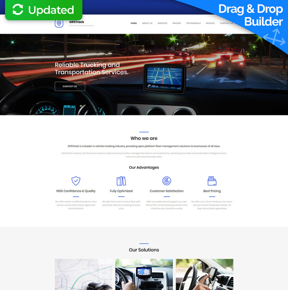 Tracking Website Template