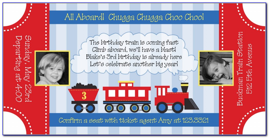 Train Ticket Birthday Invitation Template Train Ticket Birthday Invitations Ticket Invitation Template Free