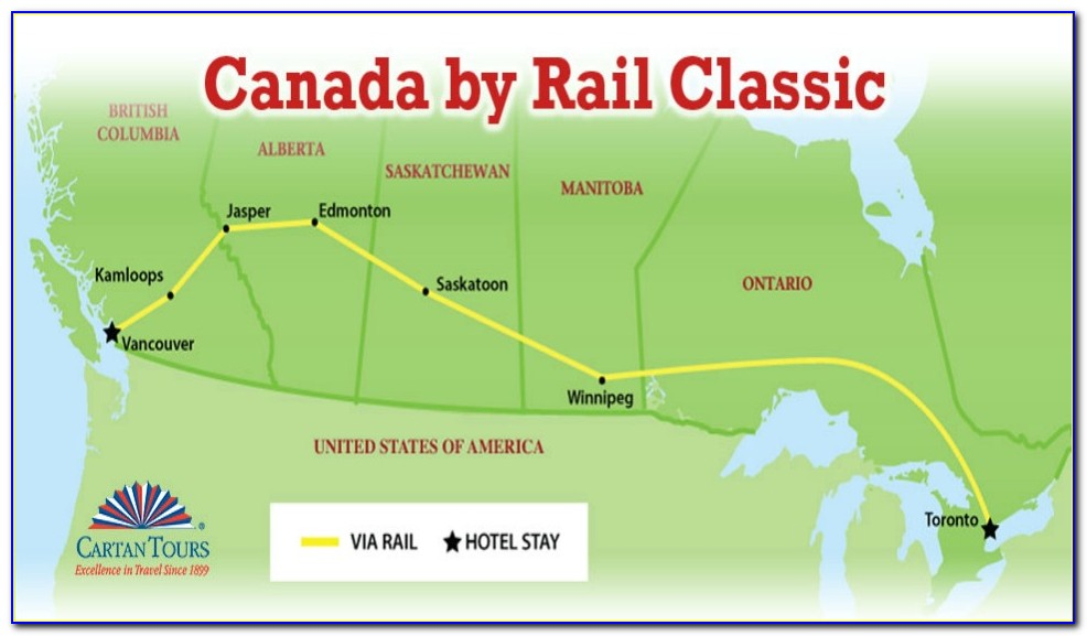 Trans Canadian Railway Route Map