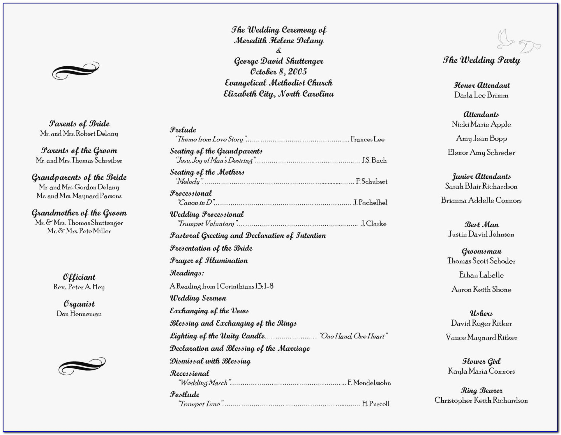 Free Printable Wedding Program Templates Microsoft Word Luxury Template For Church Program New Beautiful Tri Fold Wedding Program