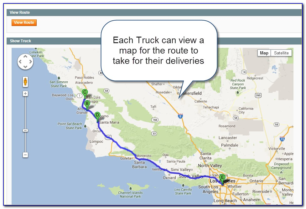 Truck Routing Google Maps