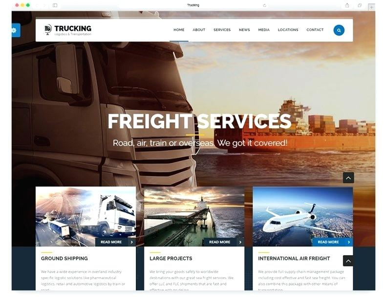 Trucking Website Templates Free Download
