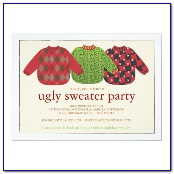 Ugly Christmas Sweater Party Templates Free