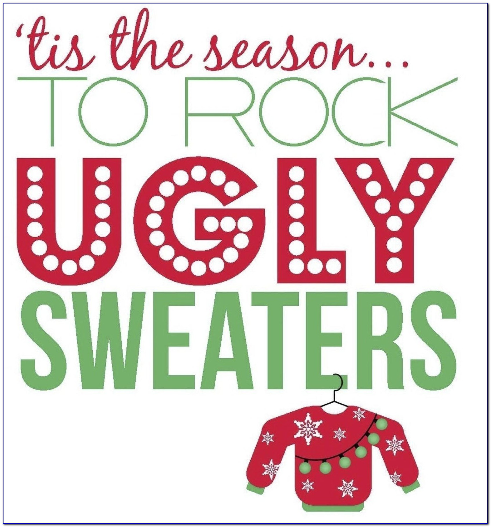 Ugly Sweater Christmas Party Invitations Template