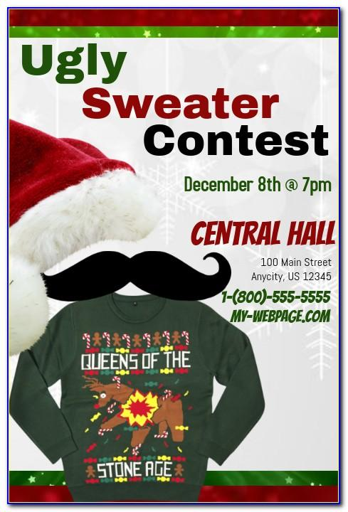 Ugly Sweater Contest Flyer Template Free