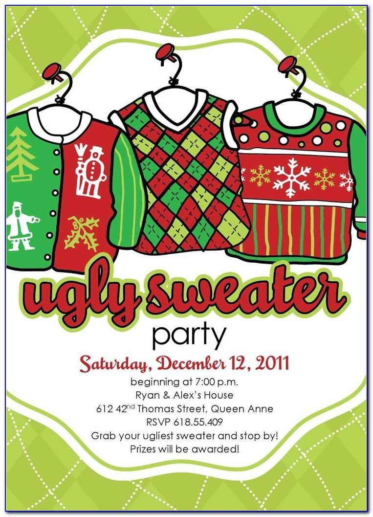 Ugly Sweater Invitation Template Free
