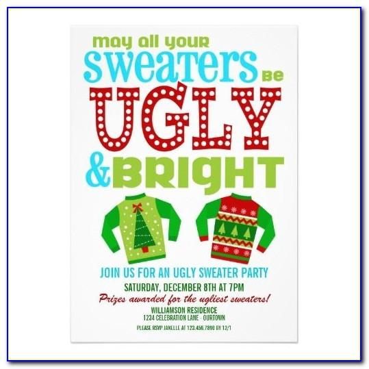 Ugly Sweater Invite Template Free
