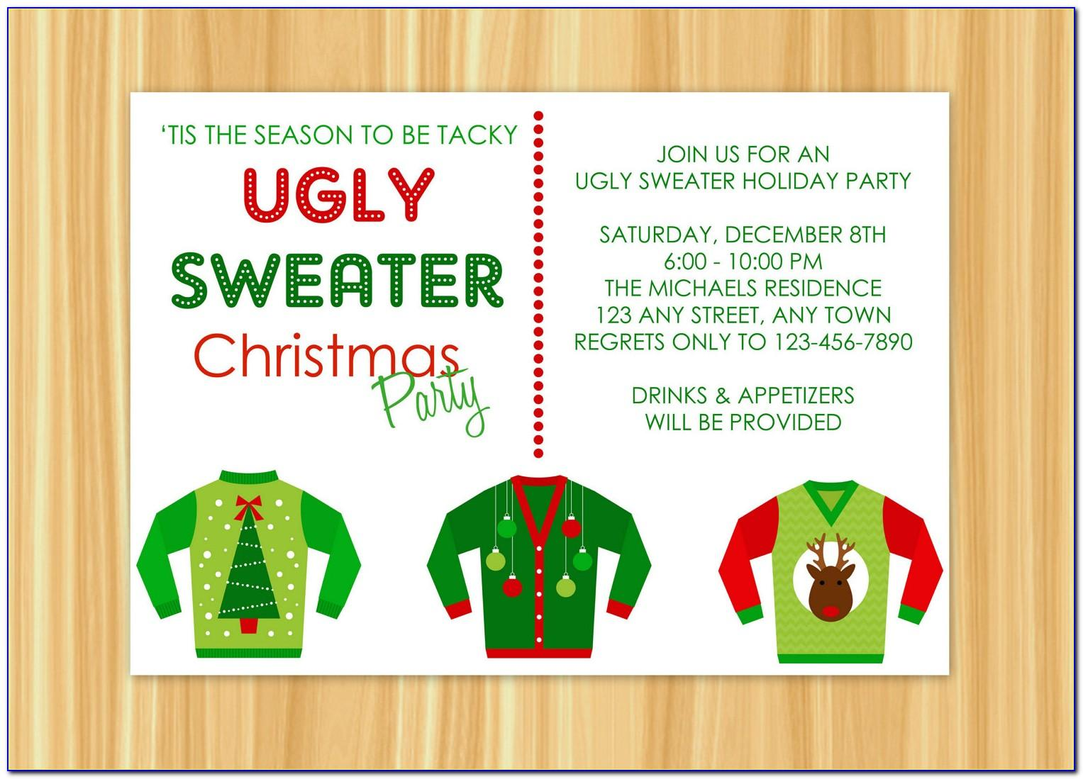 Ugly Sweater Party Template Free