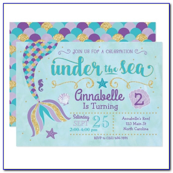 Under The Sea Baby Shower Invitation Free Templates