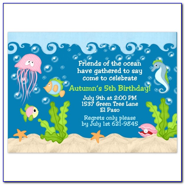 Under The Sea Birthday Invitation Template