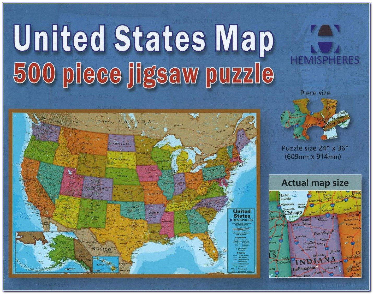 United States Map Puzzle Printable