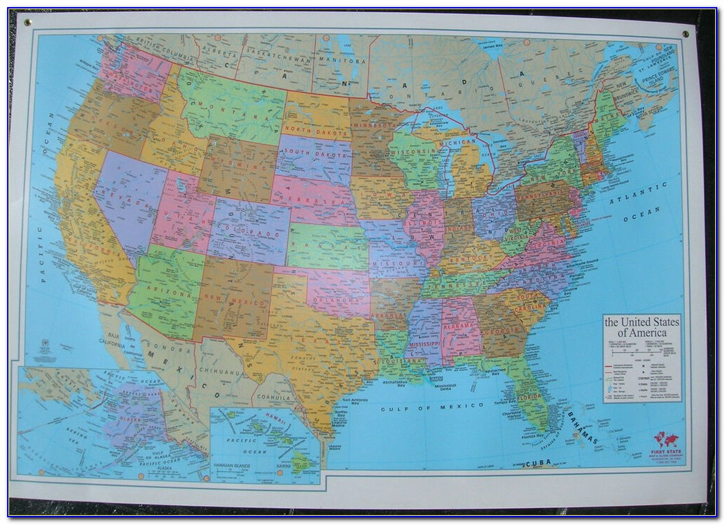 United States Wall Map Staples