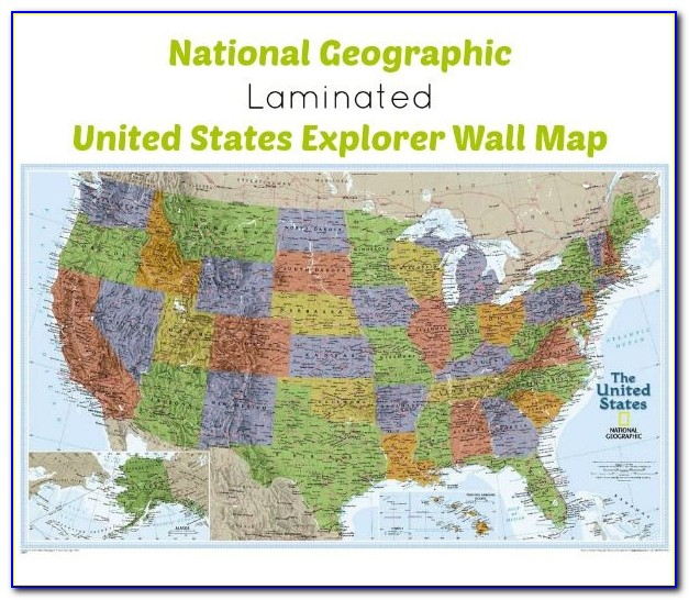 United States Wall Map With Counties