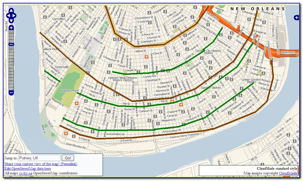 Uptown New Orleans Historic District Map