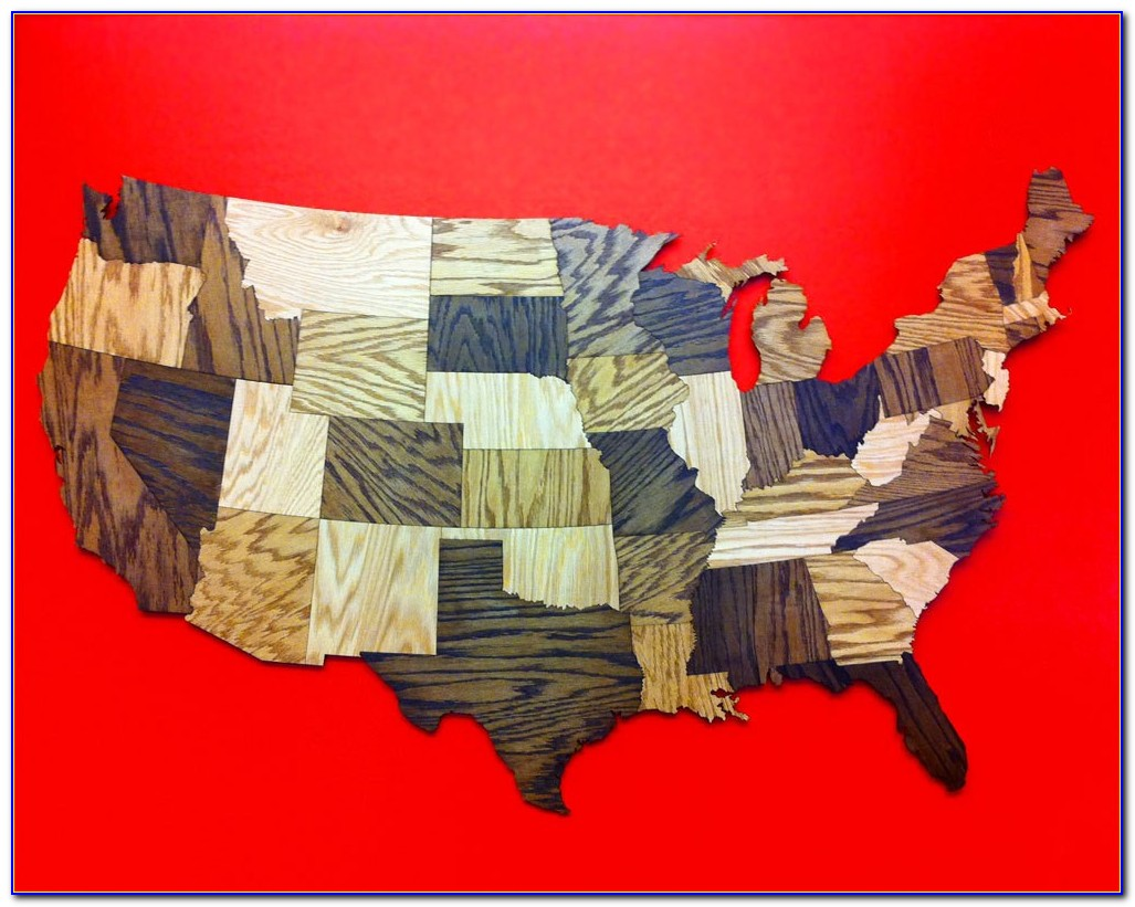 Us Map Wall Decor