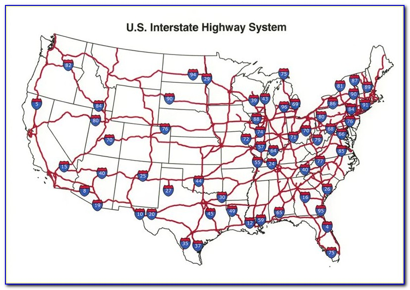 Us Map With Interstates