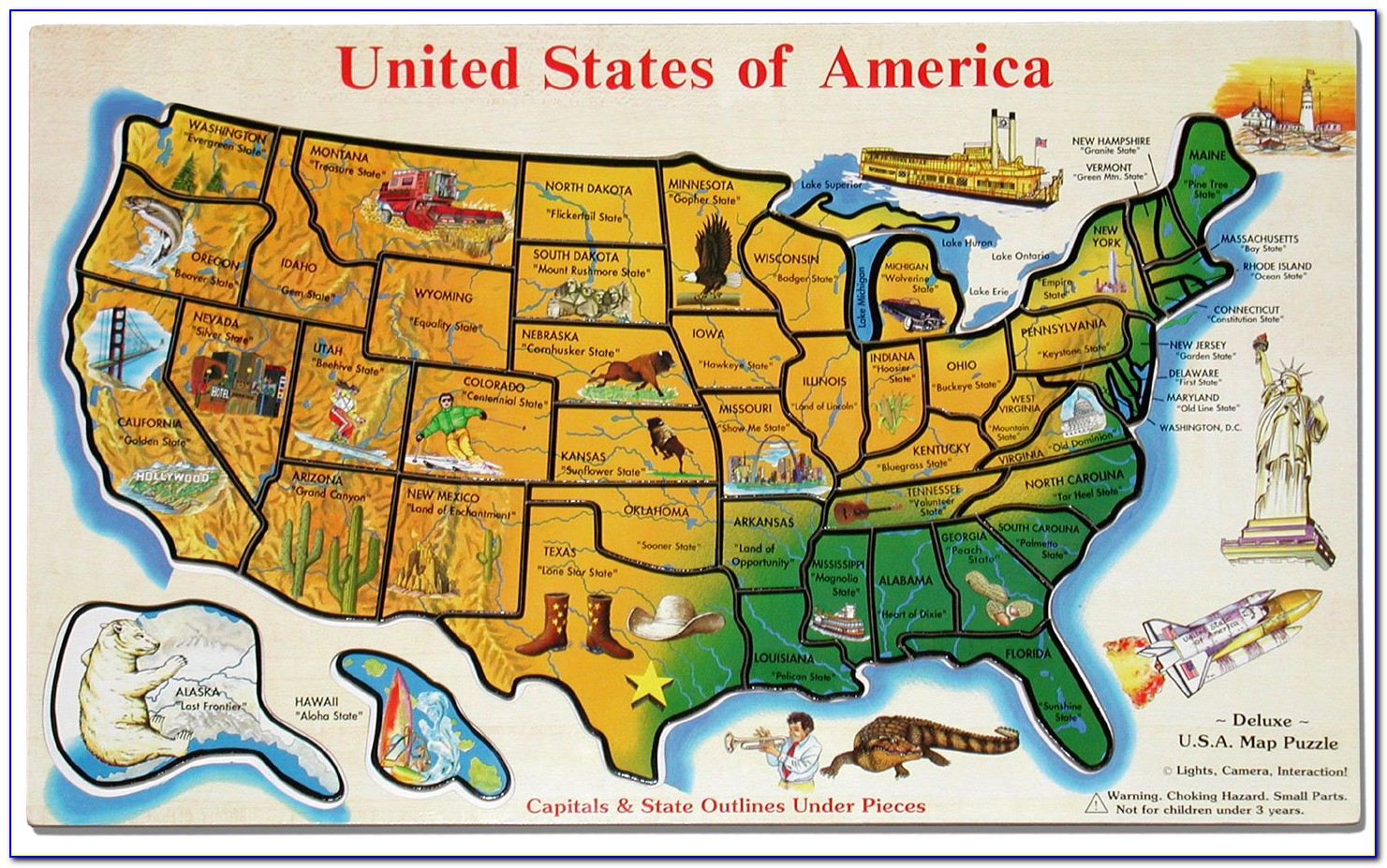 Us State Map Puzzle Game