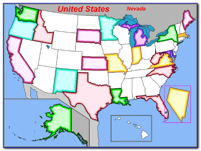 Us State Map Puzzle Online