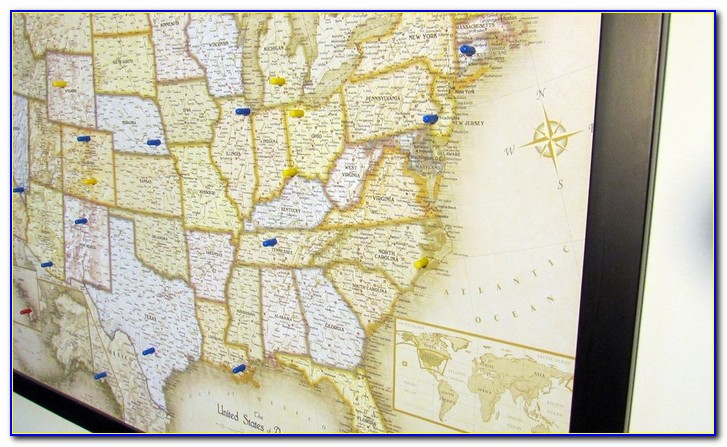 Usa Magnetic Pin Travel Map With Bonus 20 Pins